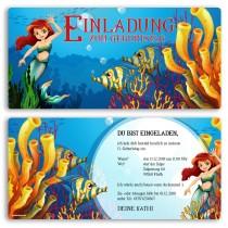 Einladungskarten - Meerjungfrau