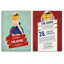 Einladungskarten - Pin Up Girl