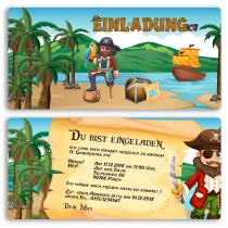 Einladungskarten - Pirat