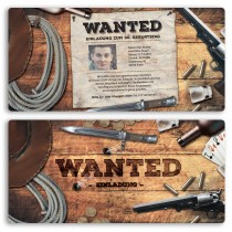 Einladungskarten - Wanted