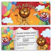 Einladungskarten - Zirkus