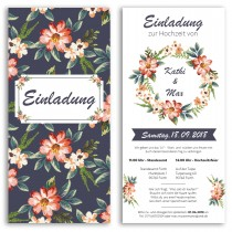 Hochzeitseinladungen - Blumen
