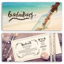 Hochzeitseinladungen - Flaschenpost