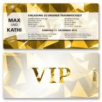 Hochzeitskarten als Eintrittskarte - VIP Gold