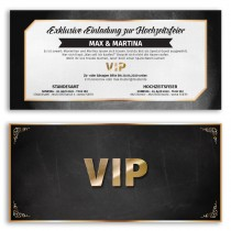 Hochzeitskarten als VIP-Ticket