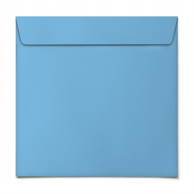 Briefumschläge - Himmelblau - Quadrat