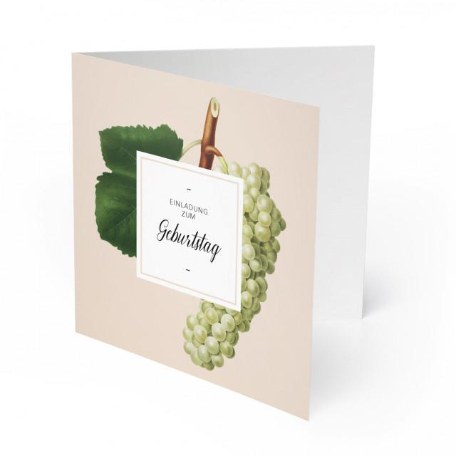 Geburtstagseinladungen - Weinrebe