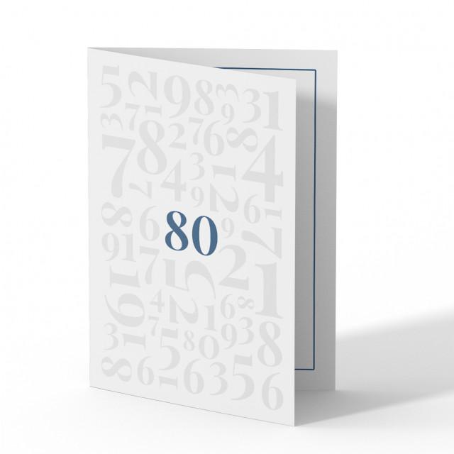 Einladung 80. Geburtstag - Zahlen