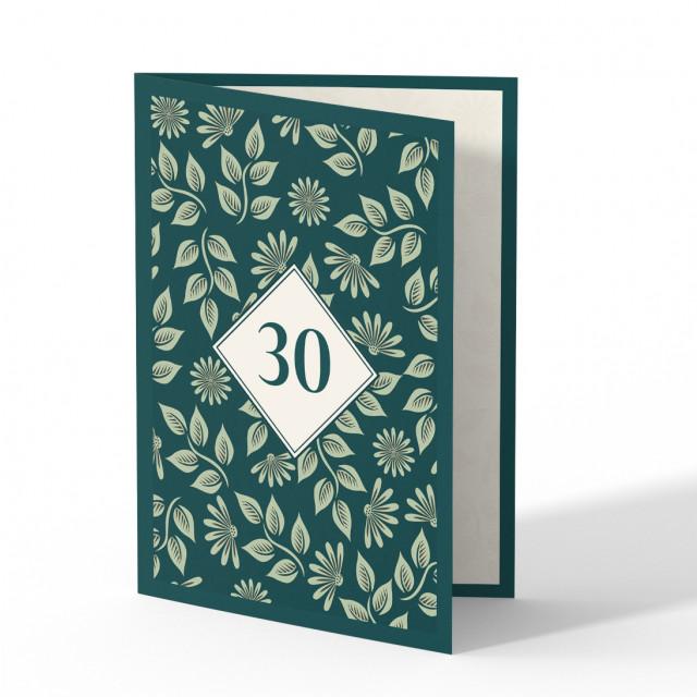 Einladung 30. Geburtstag - Pflanzen