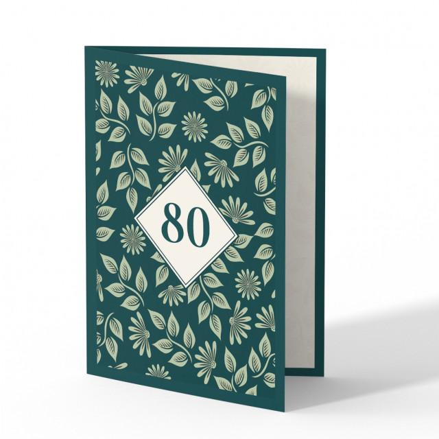 Einladung 80. Geburtstag - Pflanzen