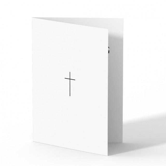 Sterbebild - Kleines Kreuz