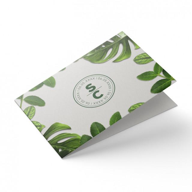 Hochzeitskarten - Blattgrün