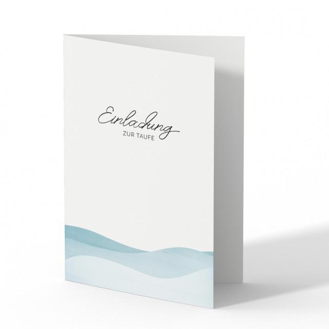 Einladungskarten zur Taufe - Wellen