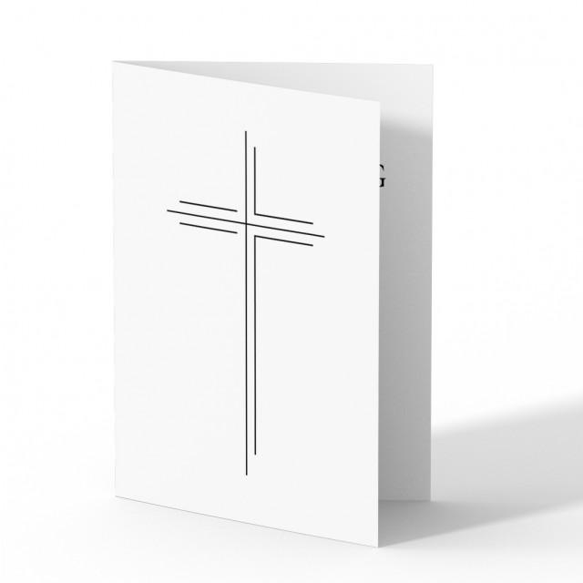 Sterbebild - Großes Kreuz