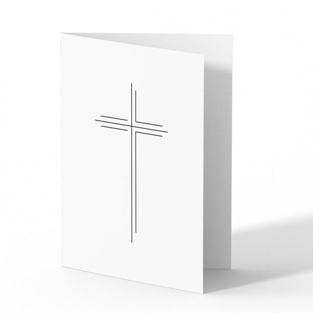 Trauer Danksagungskarten - Großes Kreuz