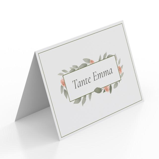 Tischkarten zur Hochzeit - Wasserfarben Blumen