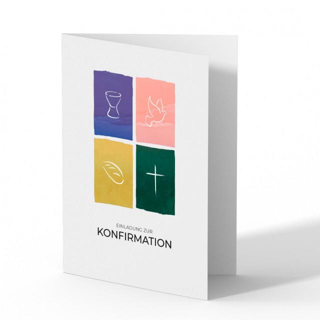 Konfirmationseinladungen - Symbole