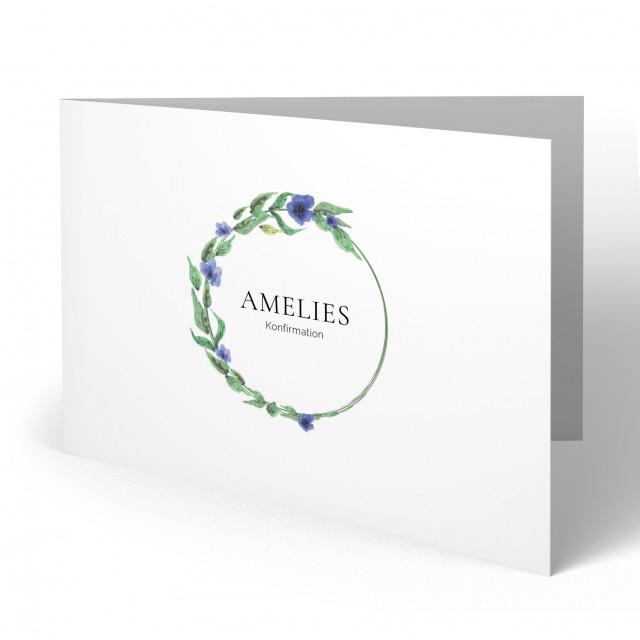Konfirmation Einladungskarten - Blumen