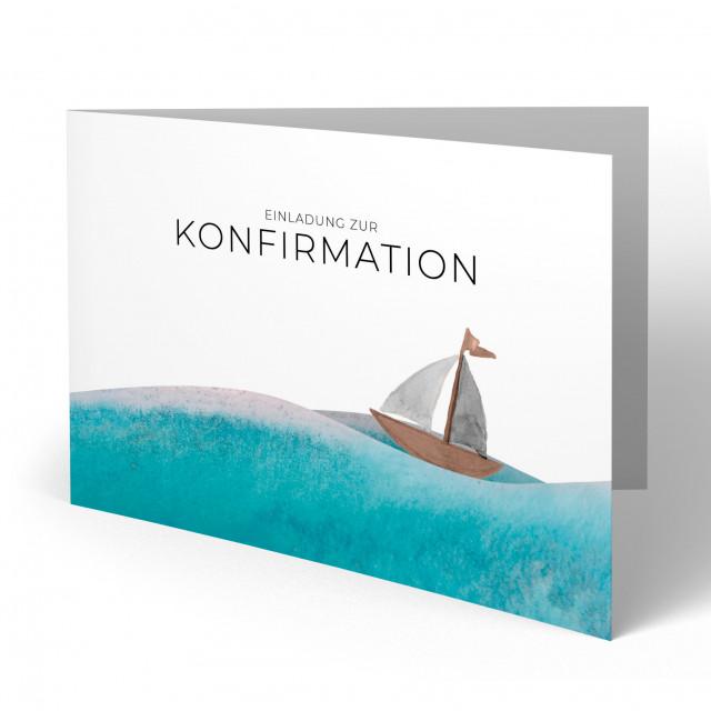 Konfirmation Einladungskarten - Schiff