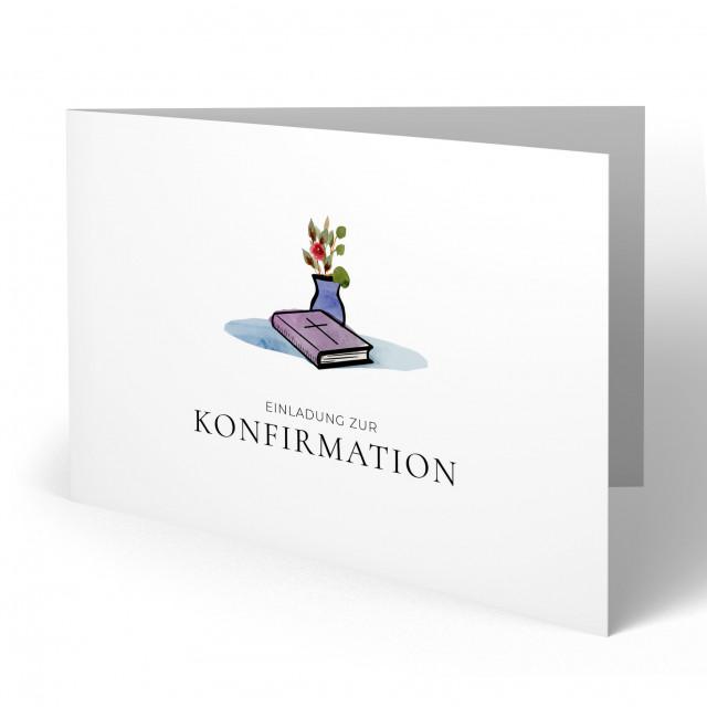 Konfirmation Einladungskarten - Bibel