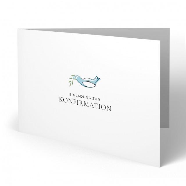 Konfirmation Einladungskarten - Taube