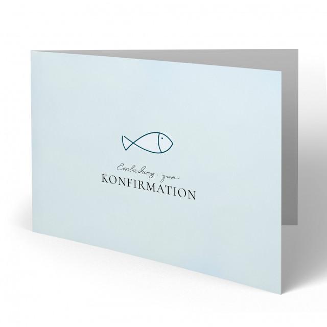 Konfirmation Einladungskarten - Fisch