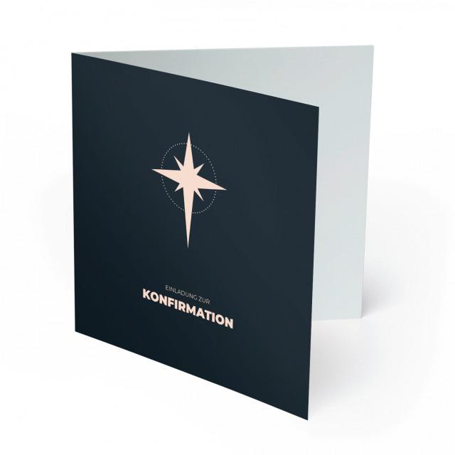 Konfirmation Einladungskarten - Stern
