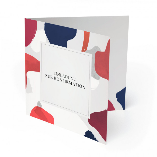 Konfirmation Einladungskarten - Farbklecks