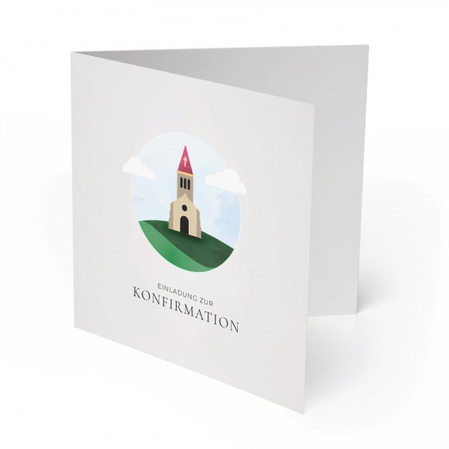 Konfirmation Einladungskarten - Kirche