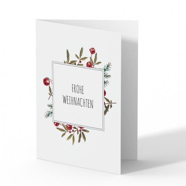 Weihnachtskarten - Blumen