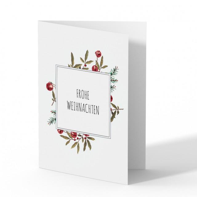 Firmen Weihnachtskarten - Blumen