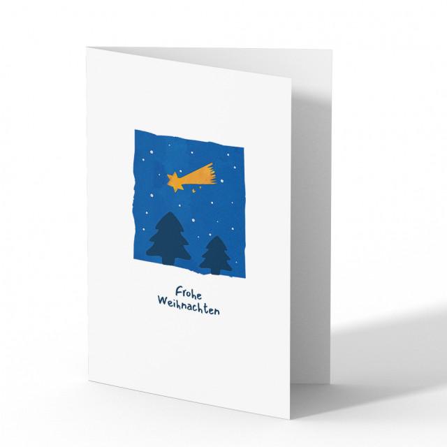 Weihnachtskarten - Sternschnuppe