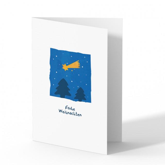 Firmen Weihnachtskarten - Sternschnuppe