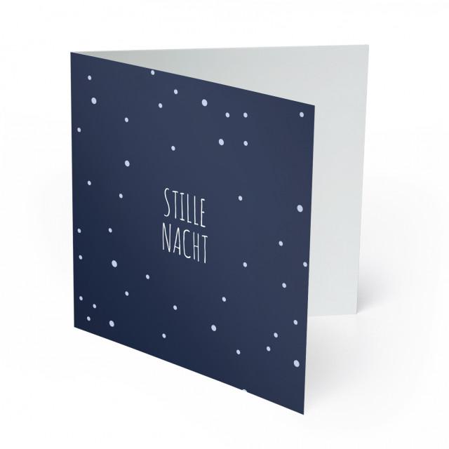 Weihnachtskarten - Schneeflocken