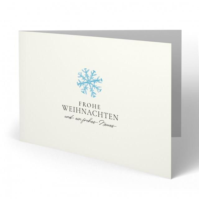 Weihnachtskarten - Schneeflocke
