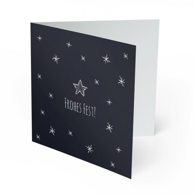 Weihnachtskarten - Sterne