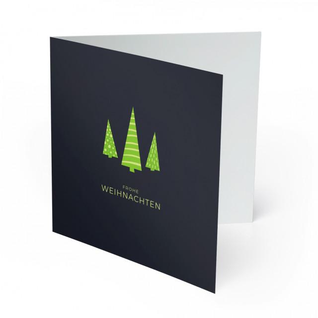 Weihnachtskarten - Tannenbäume