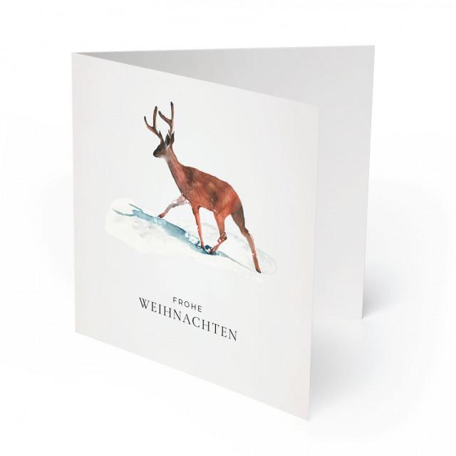 Weihnachtskarten - Rudolf