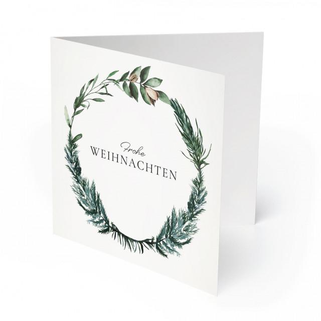 Weihnachtskarten - Adventskranz