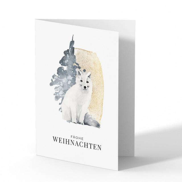 Weihnachtskarten - Schneefuchs