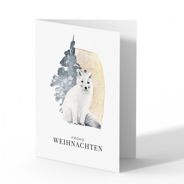 Firmen Weihnachtskarten - Schneefuchs
