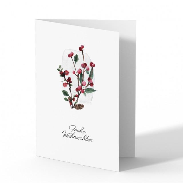 Firmen Weihnachtskarten - Beeren