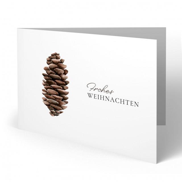 Weihnachtskarten - Tannenzapfen