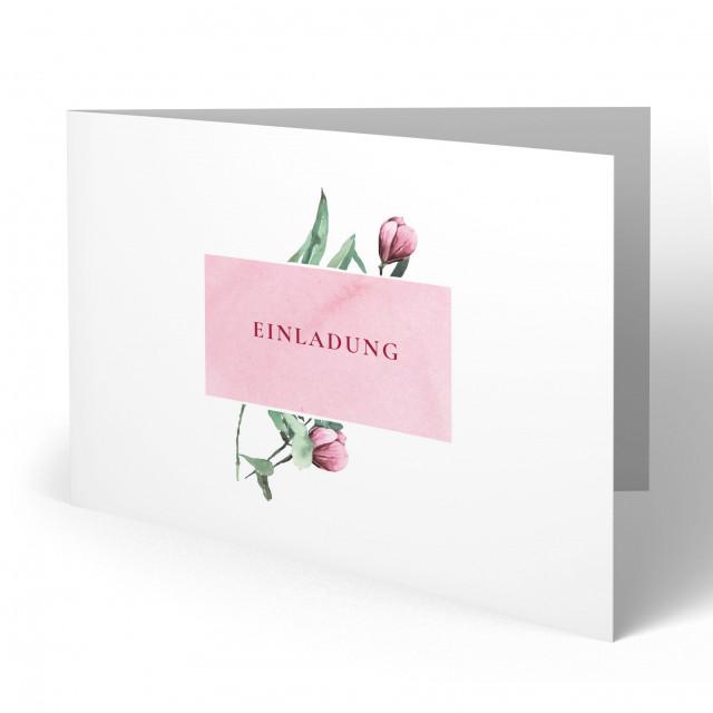 Einladungskarten zur Taufe - Blumen