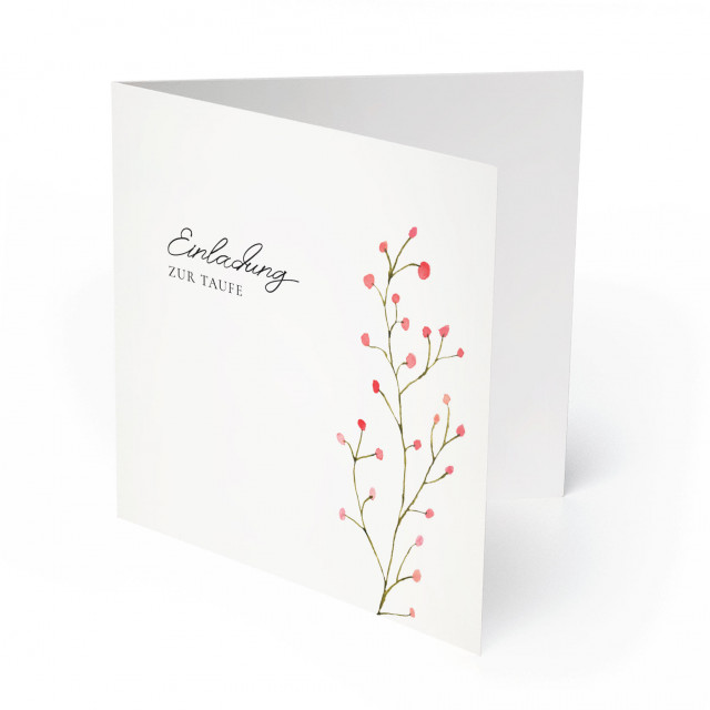 Einladungskarten zur Taufe - Beeren
