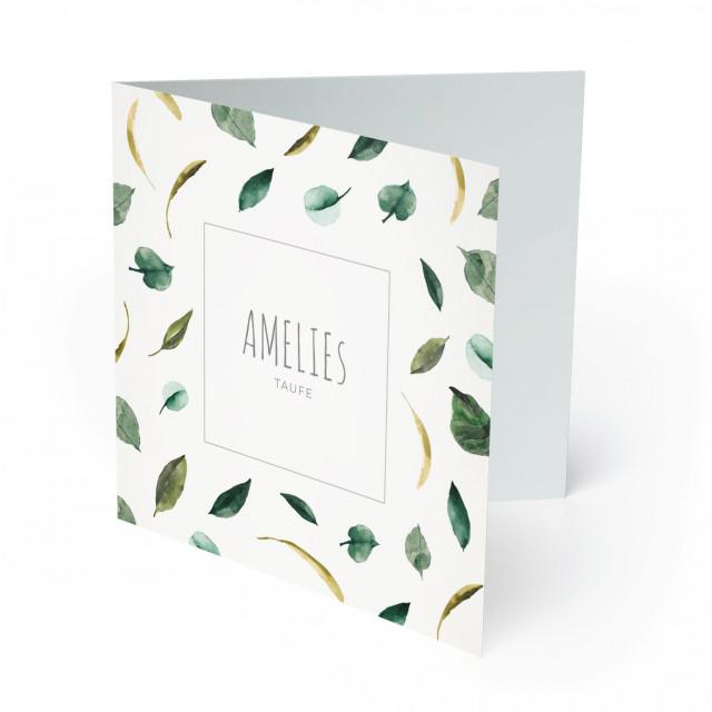 Einladungskarten zur Taufe - Blätter