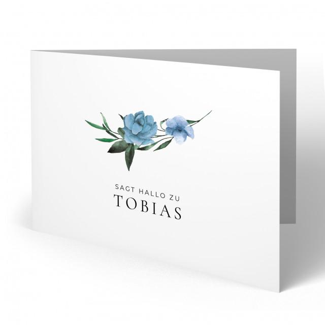 Geburtskarten - Blumen für Jungen