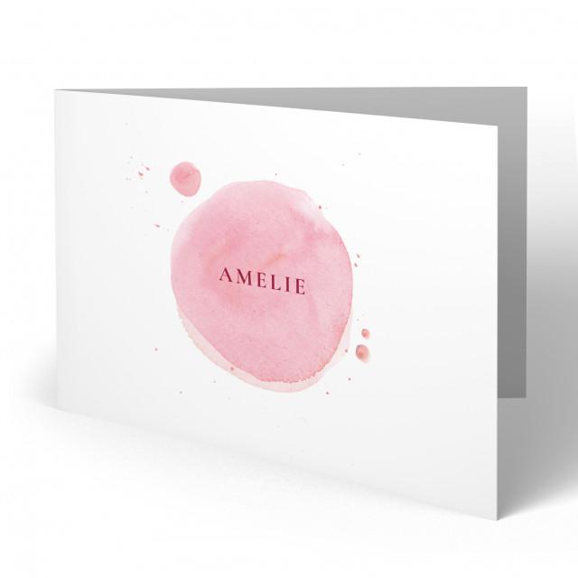 Geburtskarten - Wasserfarben für Mädchen