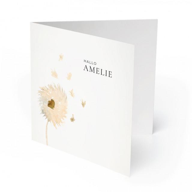 Geburtskarten - Pusteblume für Mädchen