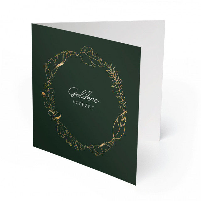 Einladungskarten Goldene Hochzeit - Goldener Kranz